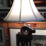 Iron wood lamp