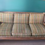 Couch with Horse Head Arms and Matching Chair Romweber Furntiure