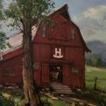 Rocking H Ranch 16 x 20 oil painting by Bill Sawczuk