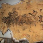 Cow hide painting