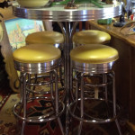 Retro tables and chairs